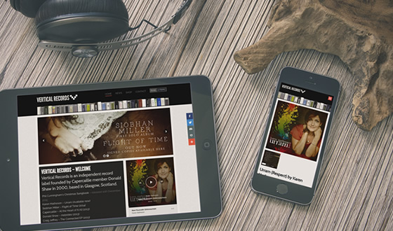 Vertical Records : Website design and build